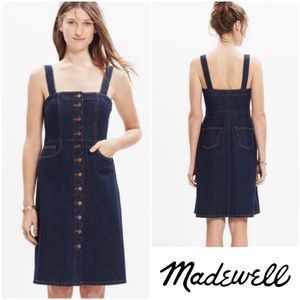 Madewell button front Denim Dress sz 12